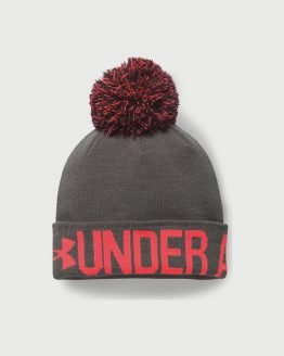 Čepice Under Armour Graphic Pom Beanie Šedá