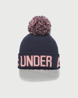 Čepice Under Armour Graphic Pom Beanie Modrá