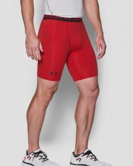 Kompresní šortky Under Armour Heatgear Graphic Short Červená