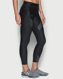 Kompresní legíny Under Armour HG Color Blckd Ankle Crop Černá