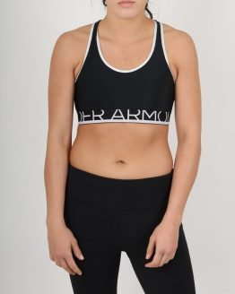 Kompresní podprsenka Under Armour Still Gotta Have It Bra-Blk/Wht/Blk Barevná