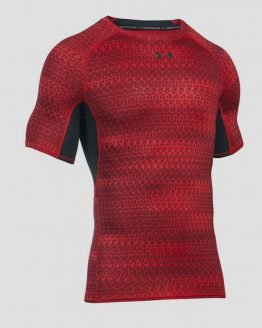 Kompresní tričko Under Armour HeatGear Printed SS Červená