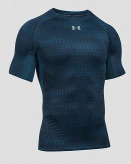 Kompresní tričko Under Armour HeatGear Printed SS Modrá