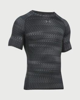 Kompresní tričko Under Armour Heatgear Printed SS Černá