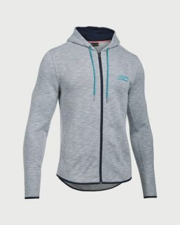 Mikina Under Armour SC30 Essentials F/Z Hoody Šedá