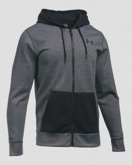 Mikina Under Armour Storm Rival Cotton Nov. FZ Šedá