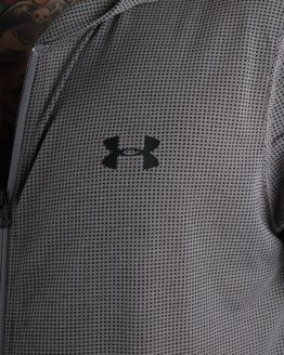 Mikina Under Armour Threadborne Fitted FZ Hoody Šedá