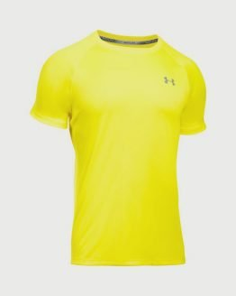 Tričko Under Armour HeatGear Run S/S Tee Žlutá