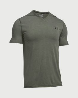 Tričko Under Armour Threadborne Fitted Vneck SS Šedá