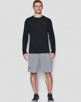 Tričko Under Armour Threadborne Seamless LS Černá