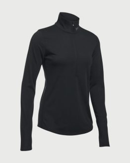 Tričko Under Armour Threadborne Streaker Half Zip Černá